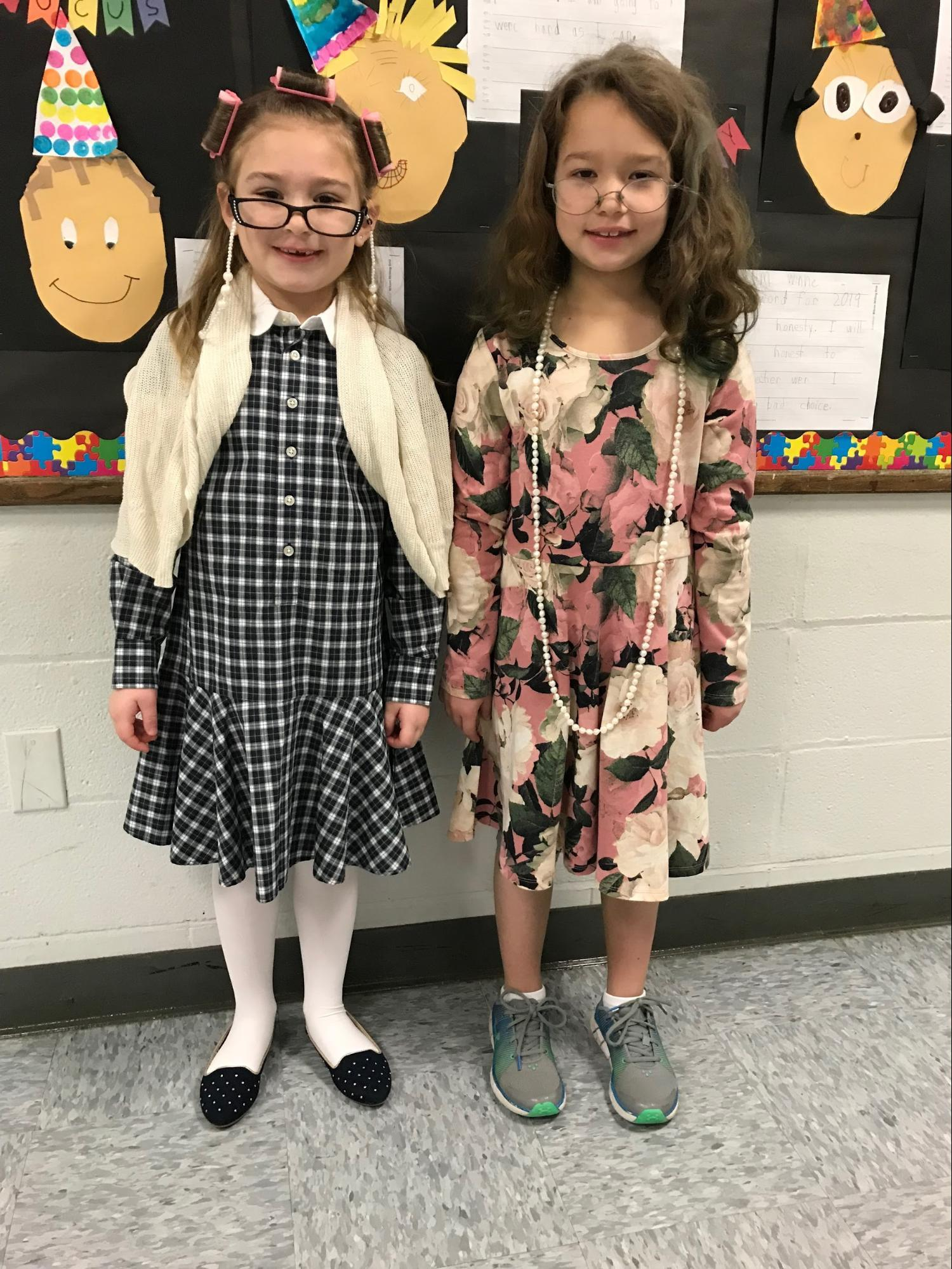 children dressed for 100 days of school