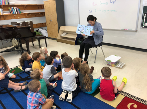 teacher reading to class