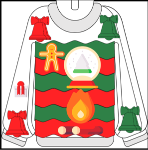 ugly sweater drawing